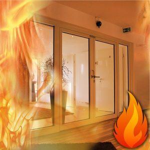 از دیگر مزیتها و خصوصیاتی که دربها و پنجرههای دو جداره دارد، دوام و استحکام بالای آنها در برابر آتش سوزی و همچنین غیر قابل اشتعال بودن این پنجرهها است.